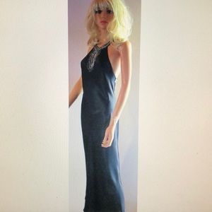Victoria's Secret Black Silk Diamont Gown XS NEW!